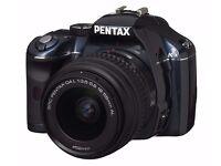 Pentax K-x Digital SLR Camera bundle ( 18 - 55mm af/lens) also MANUAL FOCUS LENS 135MM AND 50 MM