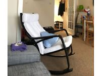 IKEA Poang rocking chair, TARVA bed frame & 2 wooden dining chairs