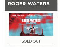 ROGER WATERS, 4 X General Admission tickets for BST in Hyde park on the 6th of July. Sold out event!