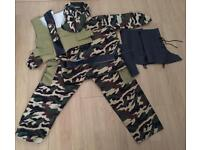 ***FOR SALE Full Child's Army Fancy Dress / Dress up Costume / outfit***