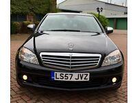 """2008 Mercedes C200 2.1 CDI Diesel - 18"""" Amg Sport Alloys - FSH - Full Mot - Low Mileage - C220 A4"""