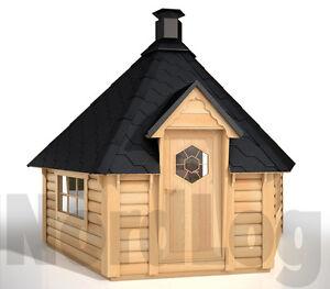 NordLog Grillkota 9,2 Grillhaus Grillhütte Feuerstelle Pavillon Gartenhaus Kota