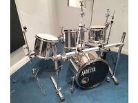 Arbiter AT Drum Kit with Pearl Icon Drum Rack - RARE Mirror/Chrome Finish