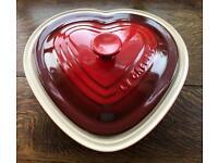 Le Creuset Heart Shaped Dish - unused