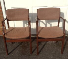 Two fire side chairs