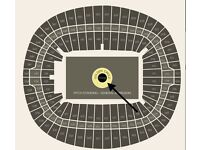 2 x Level 1 tickets for Adele The Finale Concert in London Wembley 28.06.2017