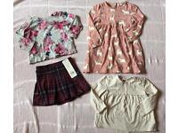Girls Clothing Bundle, 9-12 months (Joules, Next, F&F) - two brand new items!
