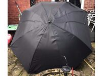 Large Fishing Umbrella Black With Ground Spike - Grandeslam Fishing Tackle