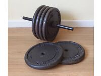 Barbell Weights 6x 10KG Metal