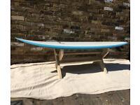 Surf board garden bench seat
