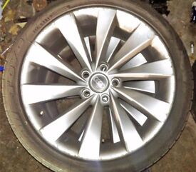 "18"" VW Scirocco Alloy Wheels Audi Skoda Seat 4 Good Tyres"