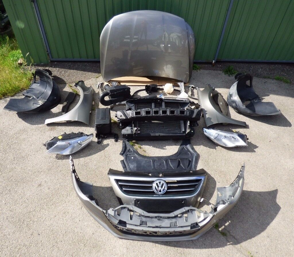 Front end original VW Passat CC 1.8 TSI Pre facelift bumper bonnet headlight fender mudguards LHD