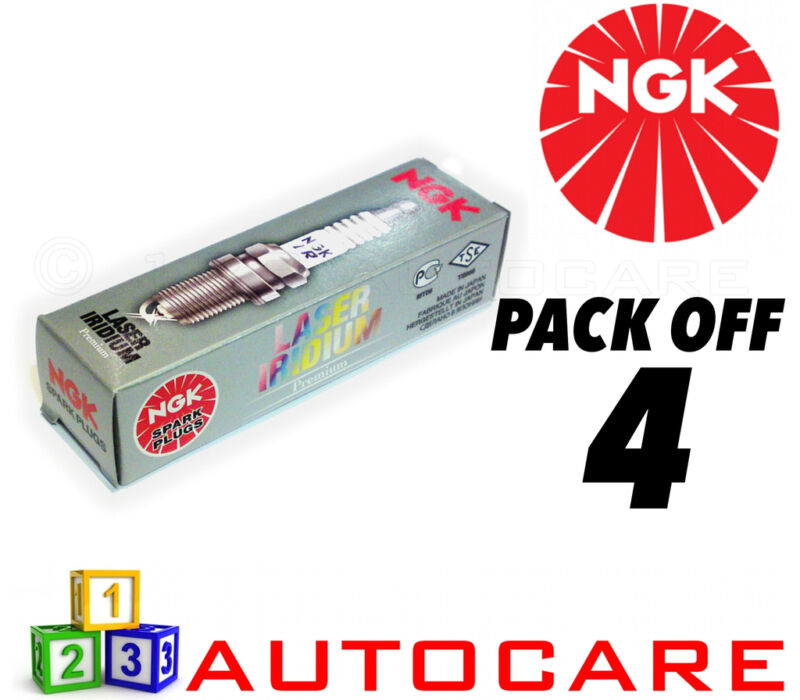 NGK Laser Iridium Spark Plug set - 4 Pack - Part Number: ILKAR7B11 No. 4912 4pk