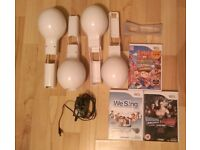 Wii Maracas + games + extras
