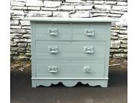 Beautiful Vintage Upcycled Chest of Drawers