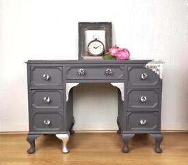 Petite Dressing Table, Painted Writing Desk with Drawers. Delivery available