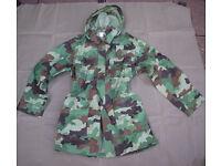 NEW - SERBIAN ARMY Oakleaf camo Combat JACKETs + Hood (Size Large)