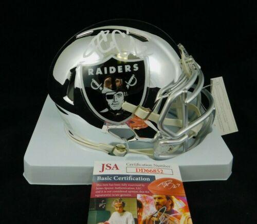 Ice Cube Signed Oakland Raiders Chrome Mini Helmet JSA Actor Musician