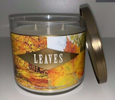 - Bath & Body Works LEAVES 3 Wick Scented Apple Nectar Clove Spice Candle Large
