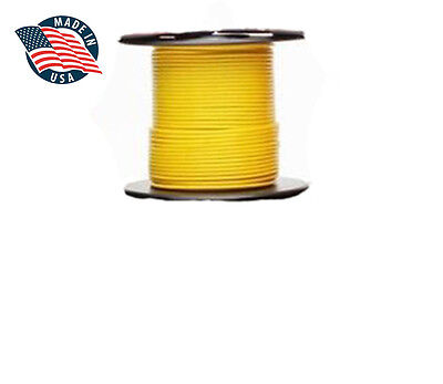 100ft Mil-spec High Temperatur Wire Cable 22 Gauge Yellow Tefzel M2275916-22-4