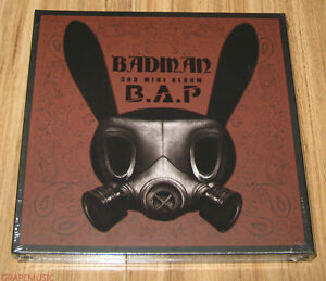 B-A-P-BAP-Badman-3rd-Mini-Album-CD-STENCIL-PHOTOCARD-with-FOLDED-POSTER-NEW