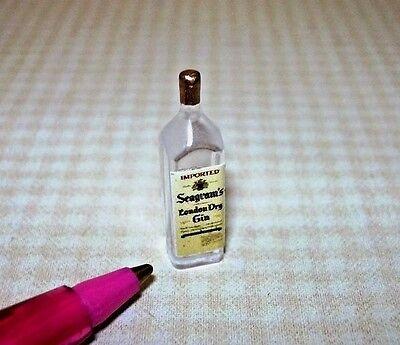 "1:12 Scale Miniature Single Liquor Bottle For the DOLLHOUSE Bar #23 7//8/"" Tall"