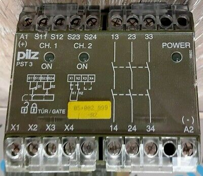 Lot Of 5 Pilz Pst 3 3s Safety Relay 24vdc 3s 3.5w