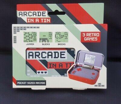 ARCADE IN A TIN - POCKET SIZED ARCADE - 3 RETRO GAMES
