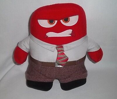 "DISNEY STORE PIXAR 9"" Plush ANGER Doll INSIDE OUT Red Man Stuffed Toy"