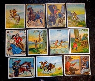 lot 11 Hassan Tobacco trade cards cowboy and Indian life series