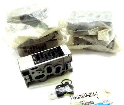 Lot Of 6 New Smc Vvfs2000-20a-1 Pneumatic Valve Manifolds W Hardware Vvfs200020