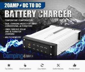 20A 12V Amp Dual Battery Isolator System Kit AGM DC to DC Charger MPPT