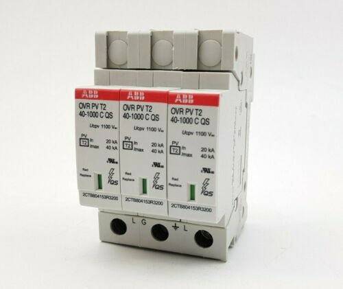 ABB Surge Protection for Photovoltaics up to 1000VDC SPD Inverter DC Input