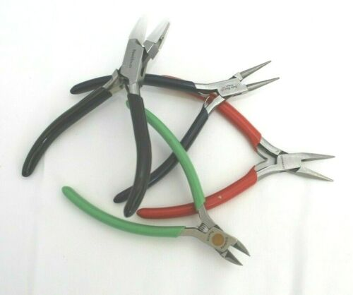 4 BEAD MAKING PLIERS GERMANY FLAT NOSE, NEEDLE, XCELITE CUTTERS, BEAD SMITH