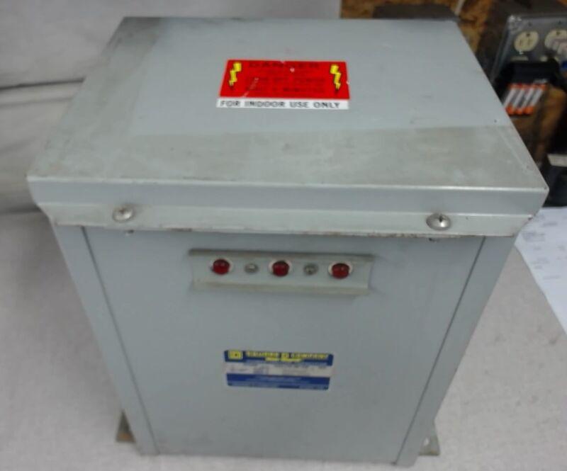 Square D, Power Factor Capacitor, Pfc -4002F, 2.5 Kvar, 480 Volts, 60Hz, 3 Ph
