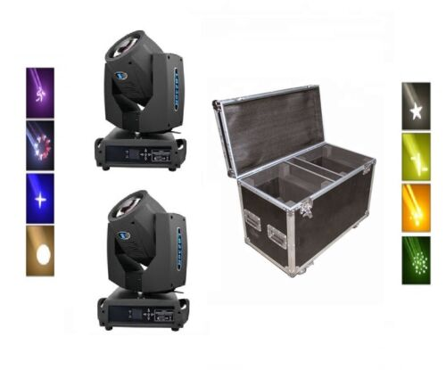 7R 230-Watt Sharpy Beam Moving Head Package with Flight Case Fits 2 Moving Heads