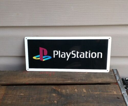 "Playstation Metal Sign Game Room 5x12"" 50128"