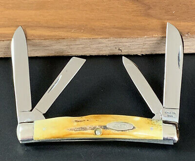 CASE XX 1970 10 Dot Stag Congress Knife 54052 Awesome Stag Handles Near Mint