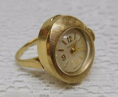 Tissot Ladies Swiss Ring Watch MARKED 14K GOLD Womens NOT Running TA2529 1417