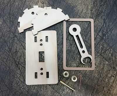 DYI KIT: steam punk style giant wood light switch lever (Steampunk Kit)