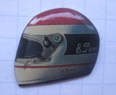FAHRERHELM  / E. PIRRO / McLAREN-HONDA / MOTORSPORT........ Auto-Pin (158g)