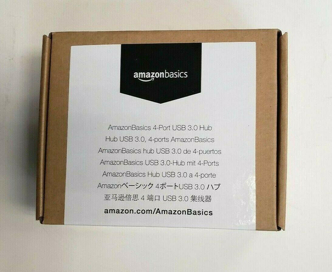 AmazonBasics 4 Port USB 3.0 Hub with 5V/2.5A power adapter