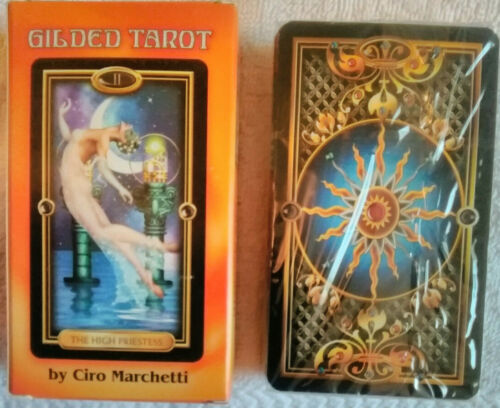 Llewellyn Gilded Tarot Card Deck, by Ciro Marchetti, Brand New Sealed Ships Free