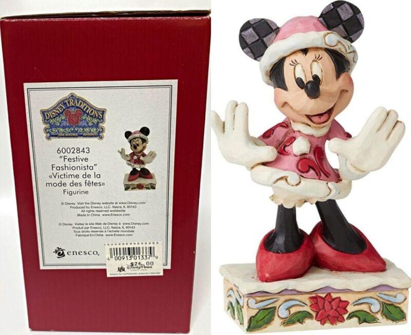 Disney Jim Shore Enesco Figurine Minnie Mouse Festive Fashionista 6002843 - NEW