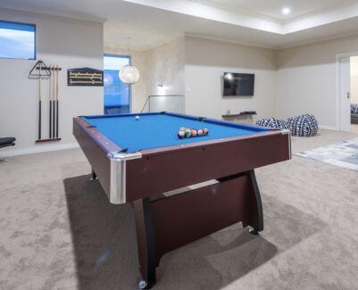 Blue felt pool table in perth region wa gumtree australia free pool table 8ft pub size watchthetrailerfo