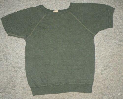 VTG 60s Penneys Towncraft Short Sleeve Raglan Sweatshirt Dark Green mens XS USA