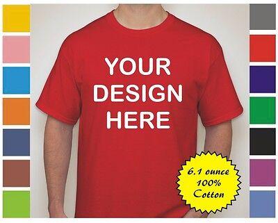 50 Custom Screen Printed COLOR 6.1 Ounce T-Shirts - $4.25 each