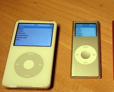 Apple iPod Classic 160 GB Silver 7th Generation A1238 & 2nd 4B Generation  A1199 comprar usado  Enviando para Brazil