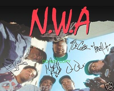 NWA N.W.A. reprint signed 11x14 poster #1 Straight Outta Compton RP Eazy-E