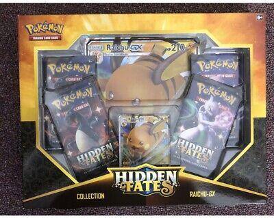Pokemon Hidden Fates Raichu GX Box - NEW SEALED